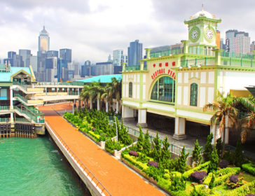 Activities At Star Ferry And Central Ferry Pier In Hong Kong