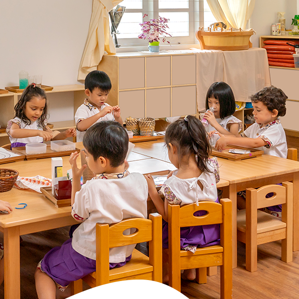 Children Studying At House On The Hill Singapore
