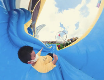 Summer Carnival At The Wheel In Hong Kong With Bumper Cars, Games Galore, Inflatable Slides, Bungee Trampolines And More